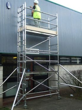 Scaffolding Mobile Tower and platform ladder for stairway