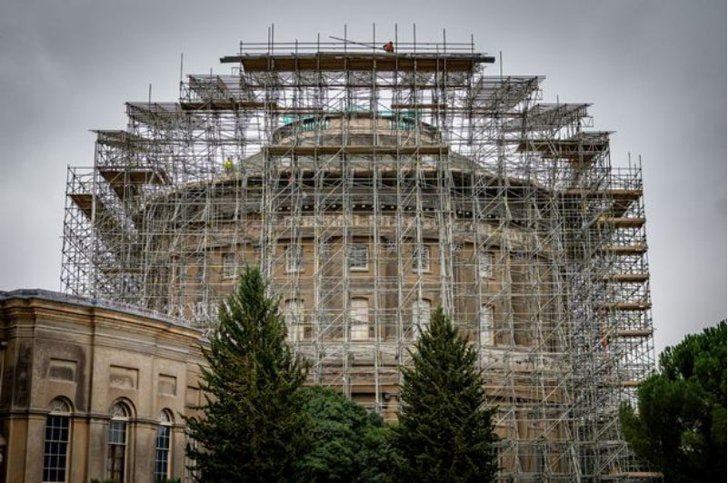 Scaffolding verses the national trust