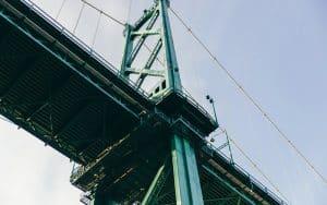 Scaffolding on the Brooklyn Bridge