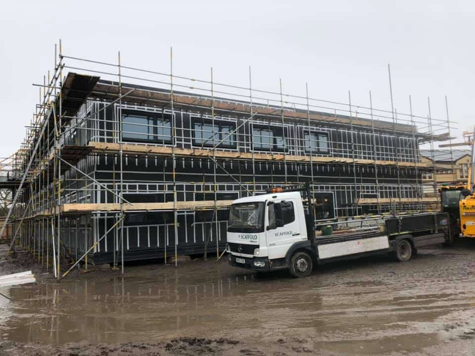 Out on site at a college RG Scaffolding Solihull