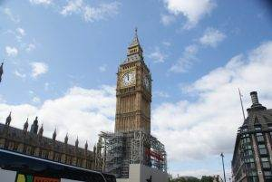 A Picture of Big Ben covered in Scaffolding in London