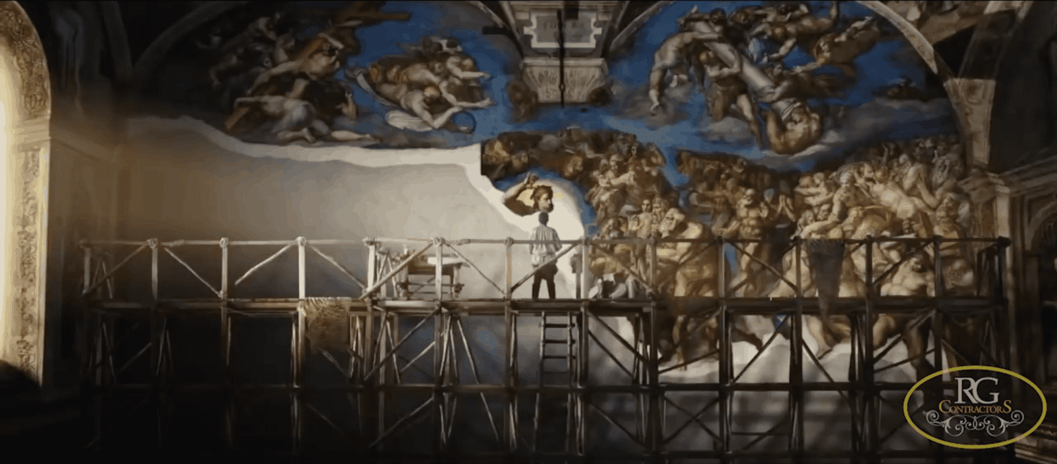 Michelangelo's First type of Scaffolding