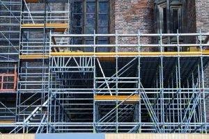 Yobs caught climbing scaffolding in Warwickshire