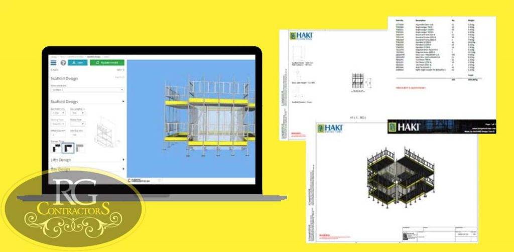 The Best 3D Design Tool for Scaffolders, picture of the software on screen