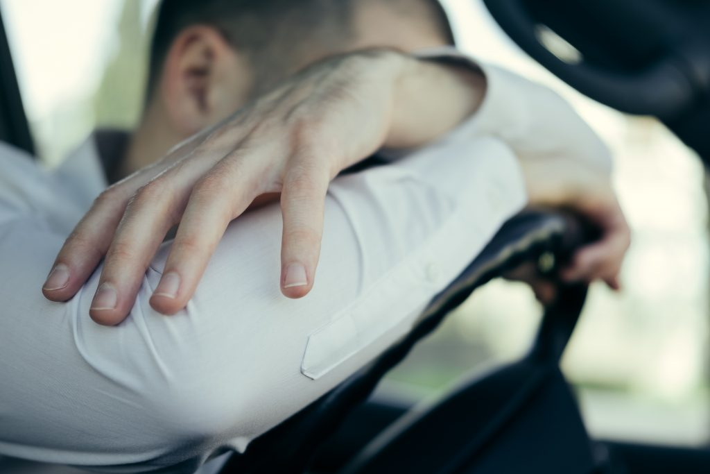How to deal with stress in the Scaffolding Industry, Stressed and furious driver in his car